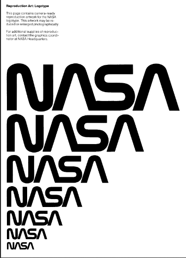 brand style guide of NASA