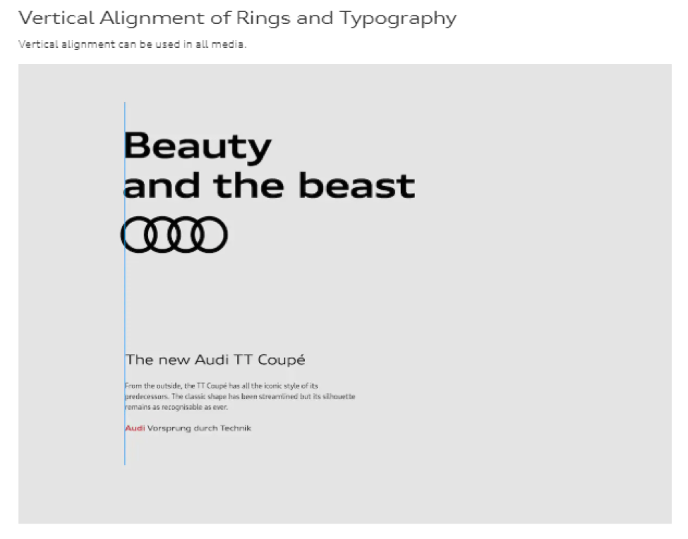 audi's online brand guidelines