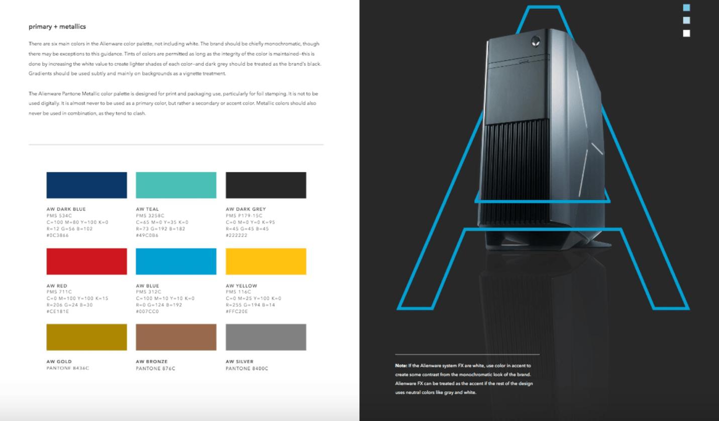brand style guide alienware