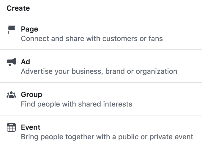 set up Facebook group