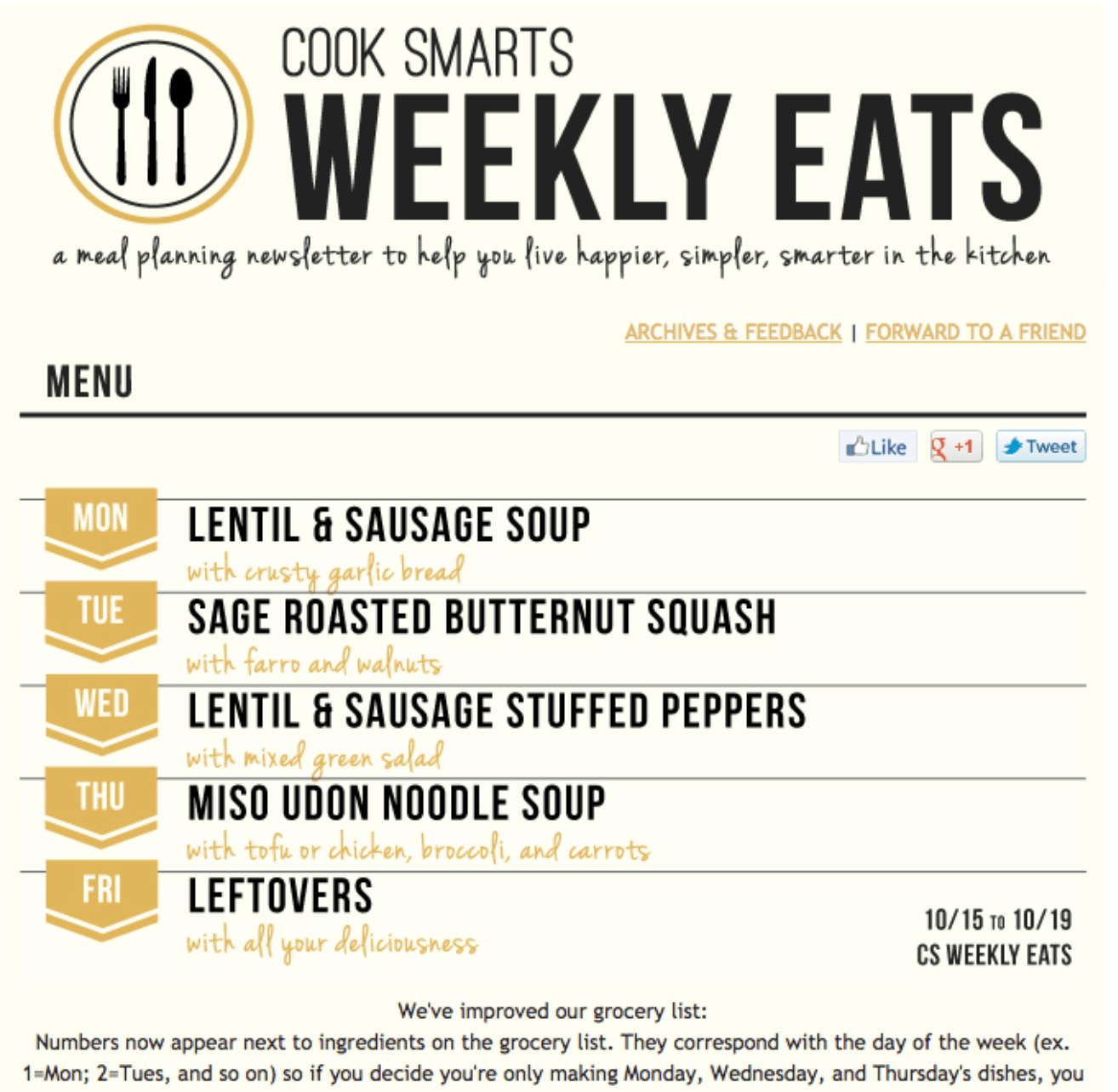 Cook smarts email newsletter