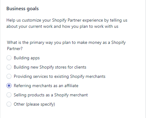 set up shopify partners