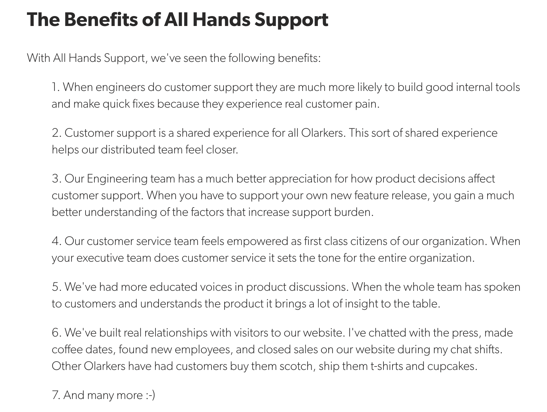 olark customer centric approach