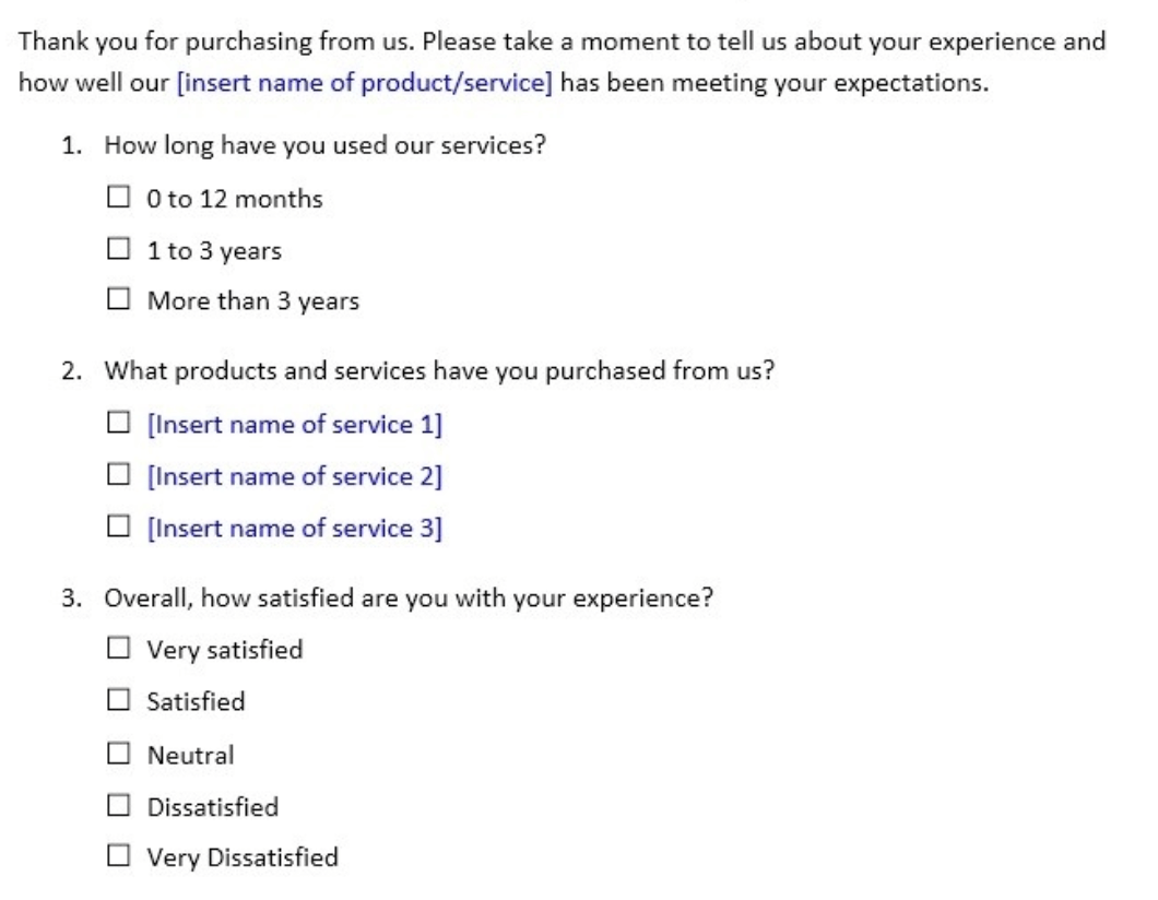 voice of customer surveys