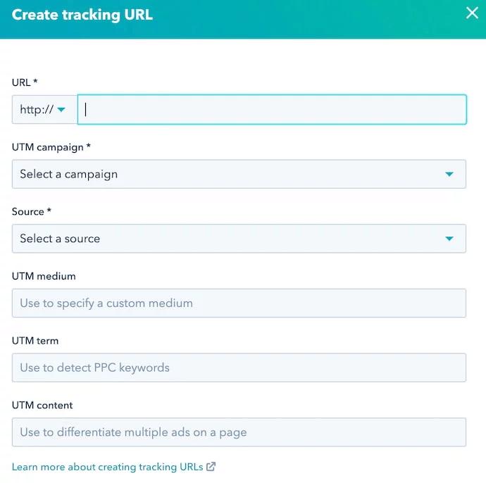 how to create tracking URLs