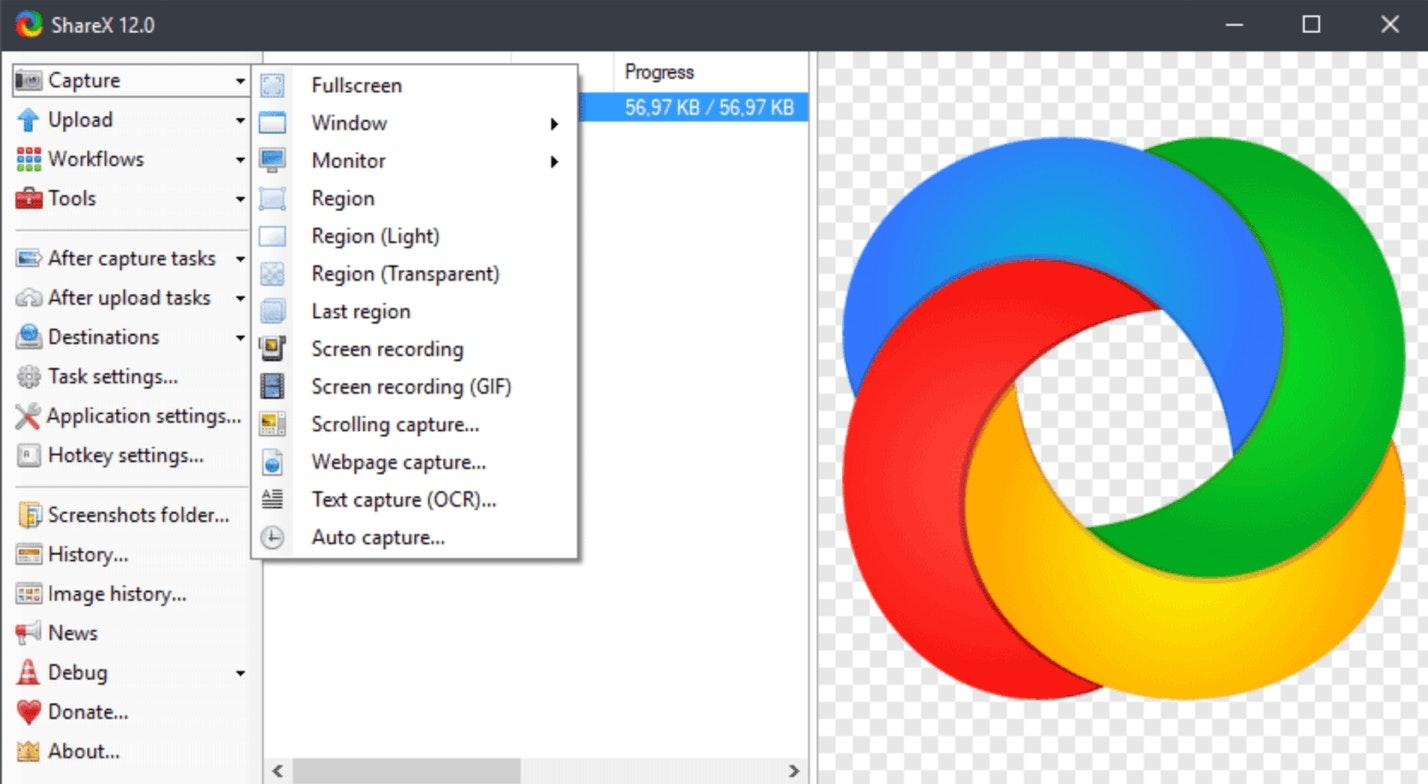 ShareX: programmi per registrare schermo