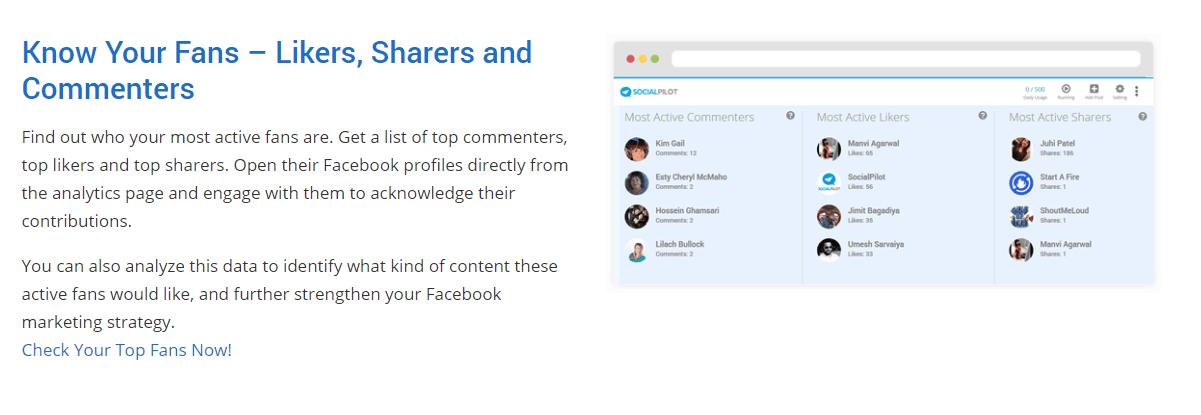 Social Pilot Facebook analytics tool
