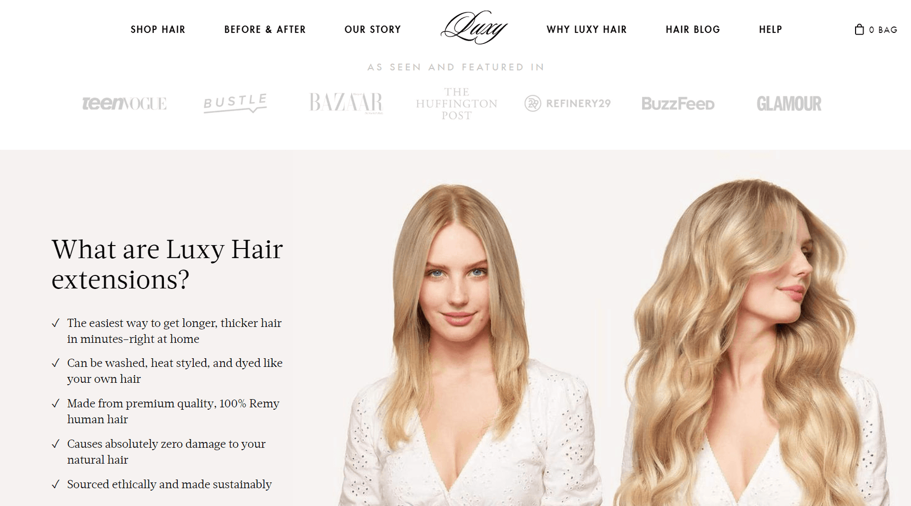 luxy hair value proposition