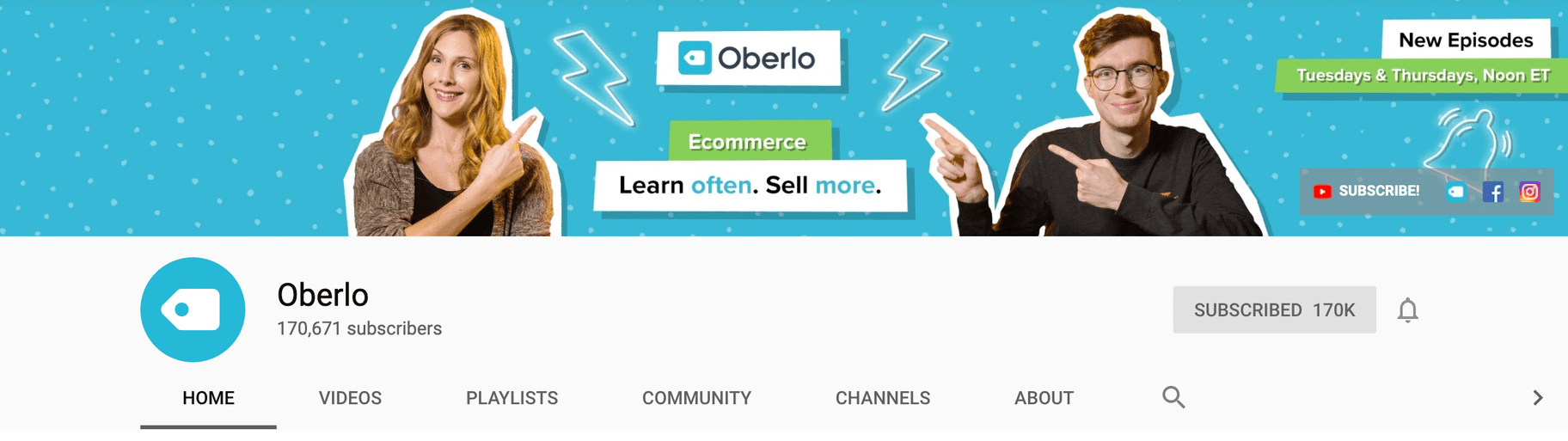 Oberlo YouTube Profile Pic