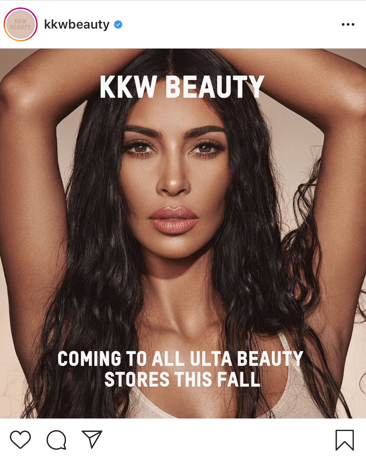 KKW beauty instagram account