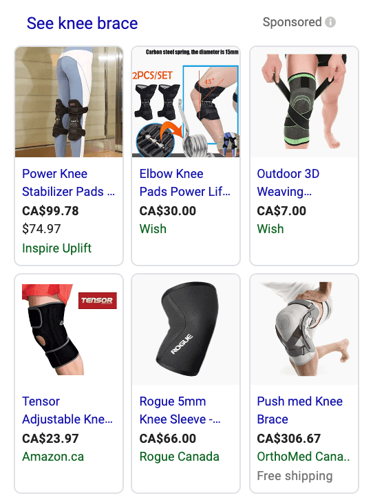 best products to sell online knee brace