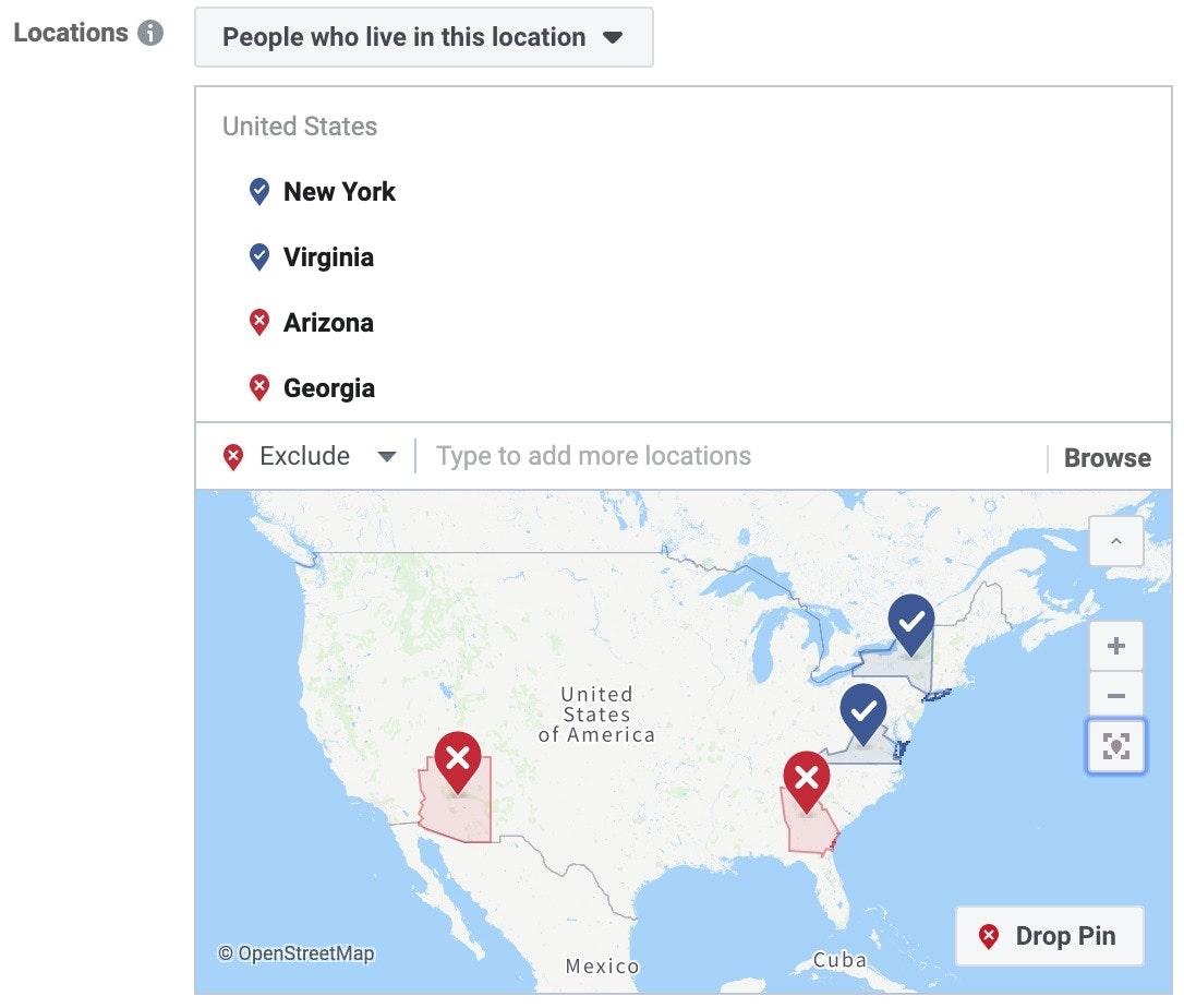 facebook ads geo targeting