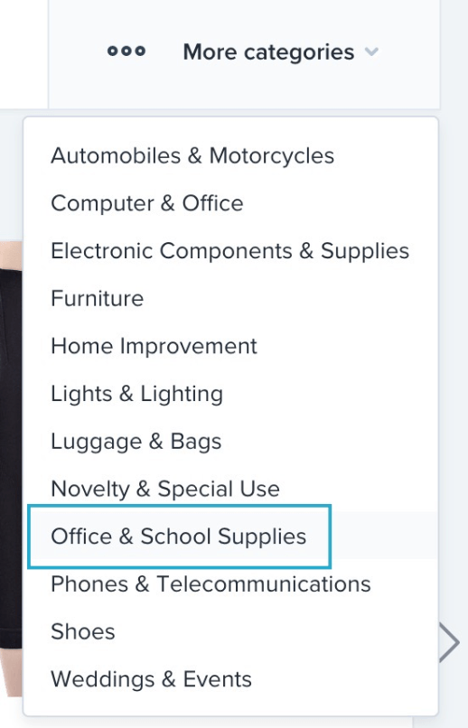 Oberlo business and school supplies