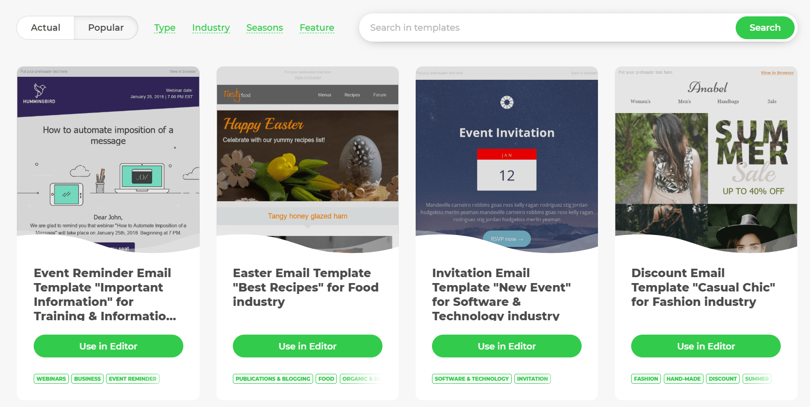 best email newsletter templates