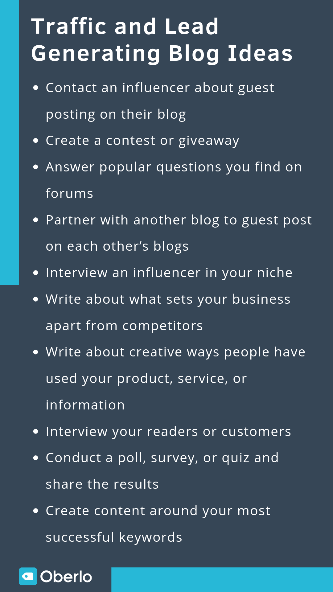 Traffic and Lead Generating Blog Ideas