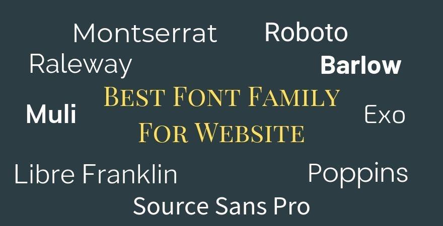 Best Font Family For Website