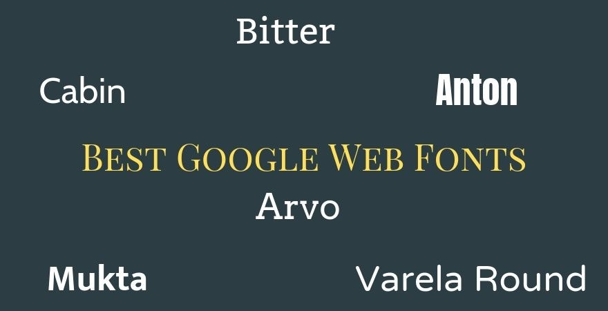 Best Google Web Fonts
