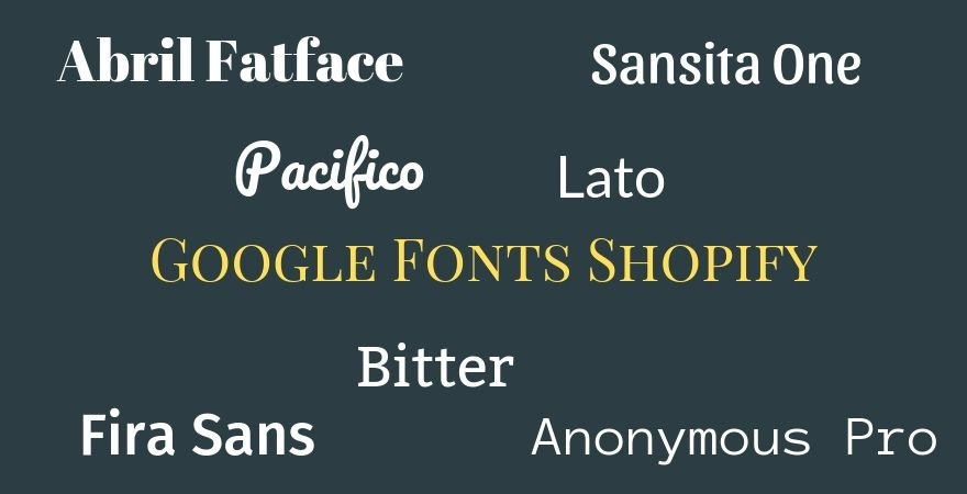 Google Fonts Shopify