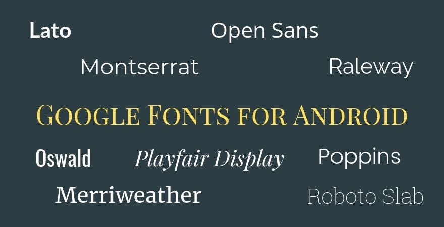 Google Fonts for Android