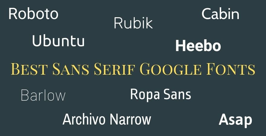 Best Sans Serif Google Fonts