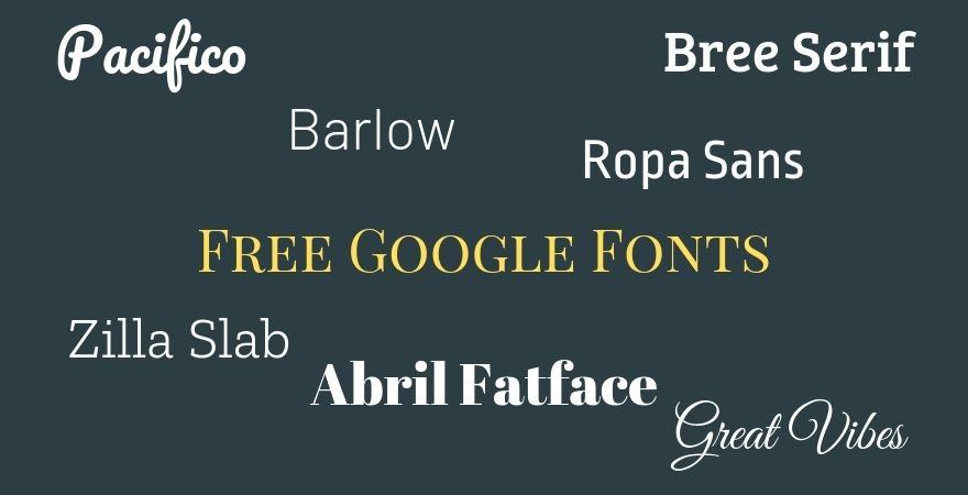 Free Google Fonts