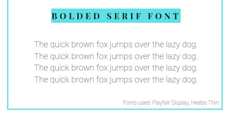 serif font and sans serif font combination