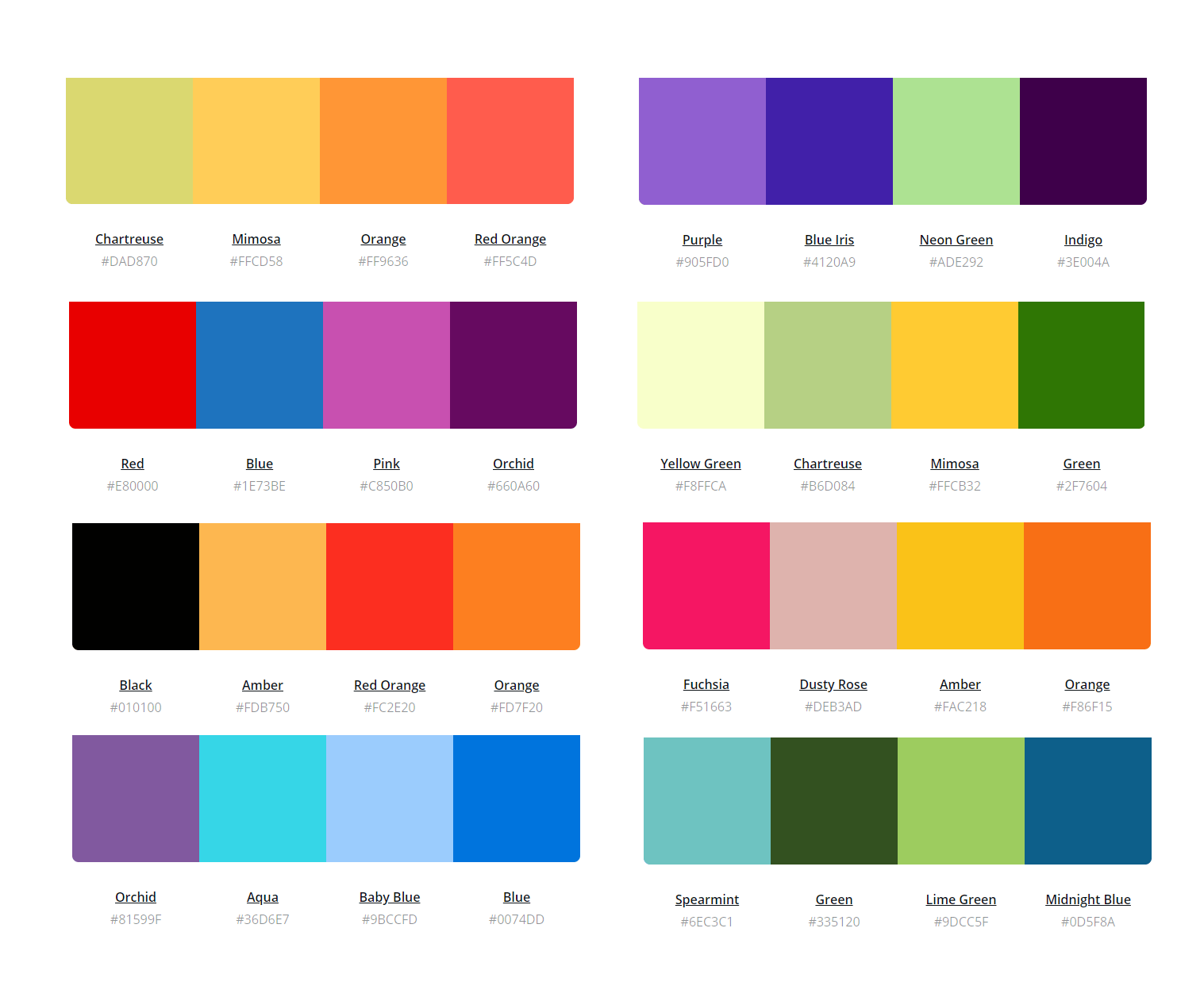 The Ultimate Color Combinations Cheat Sheet To Inspire Your Design