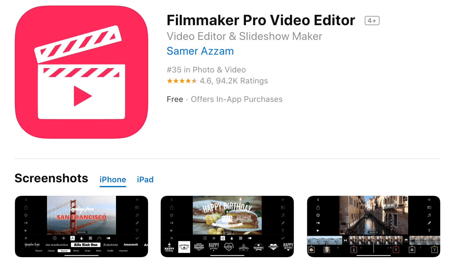 Filmmaker Pro Mobile Video Editor