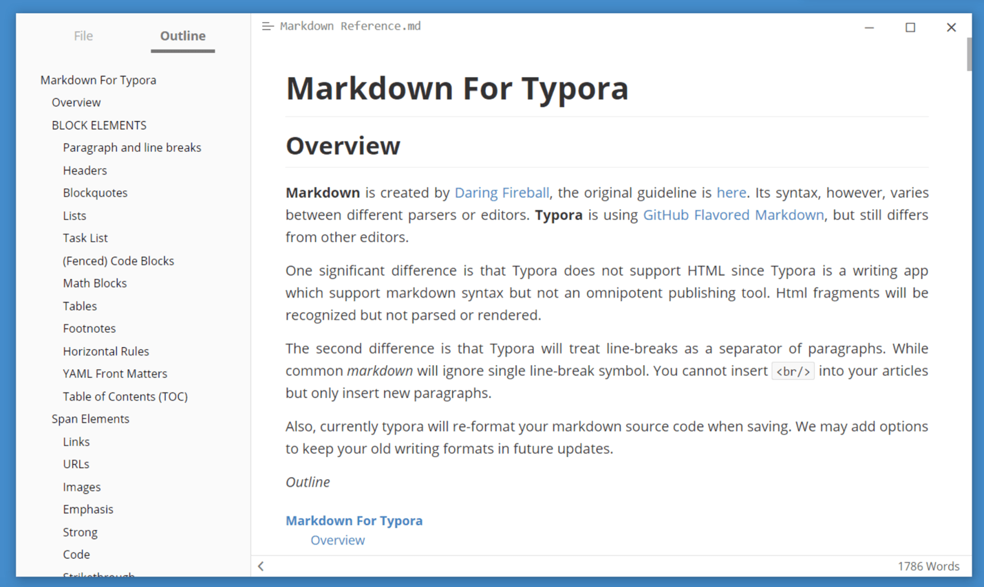 typora markdown review