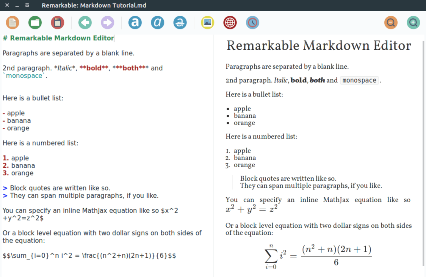 linux markdown editor