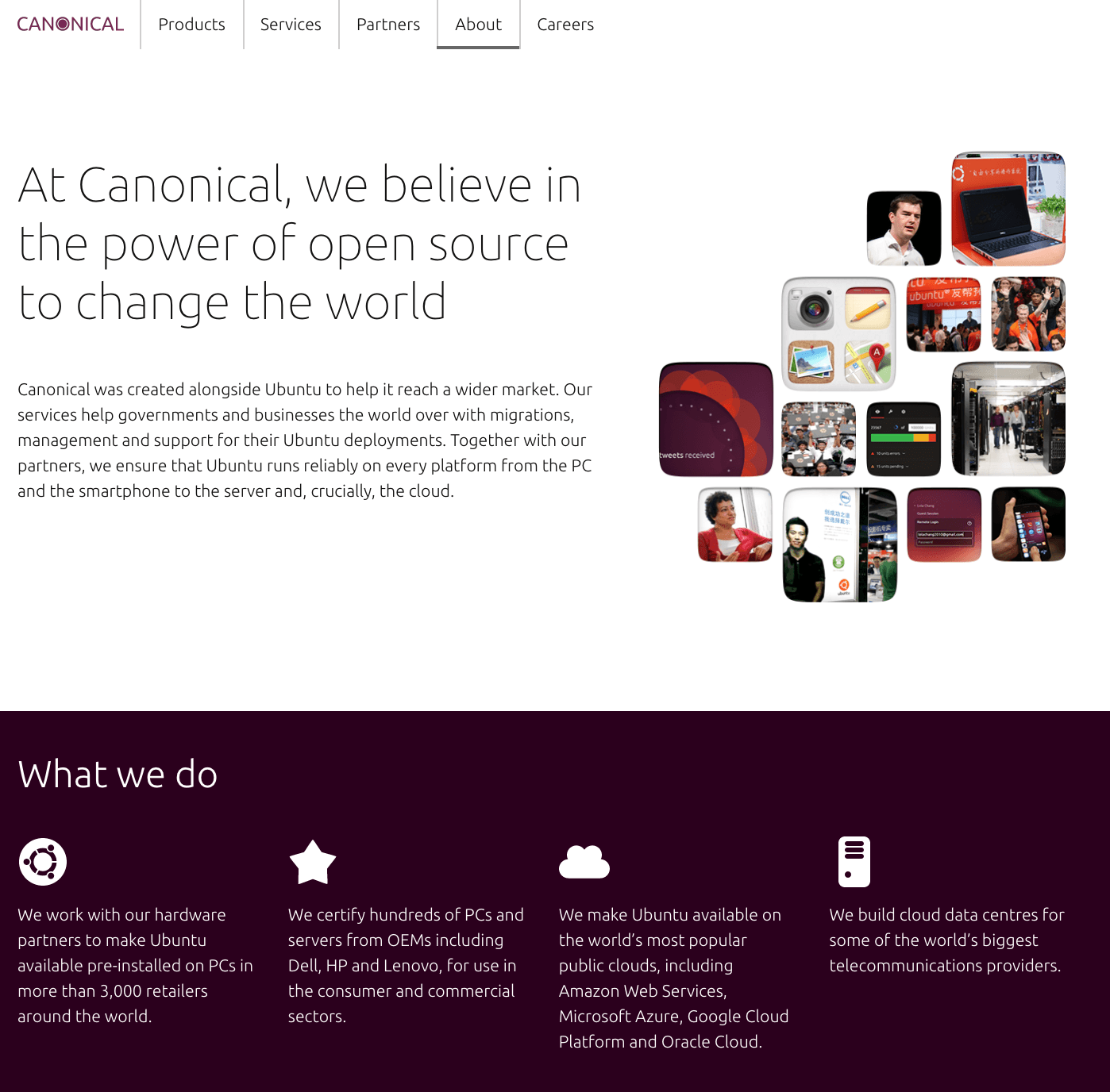 Canonical About Us Page