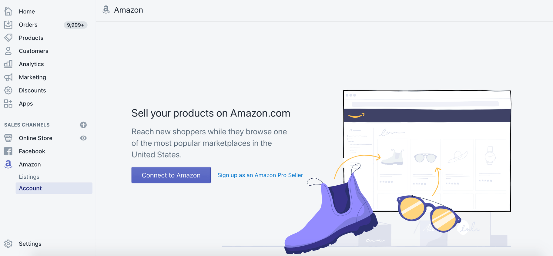 connect amazon to shopify