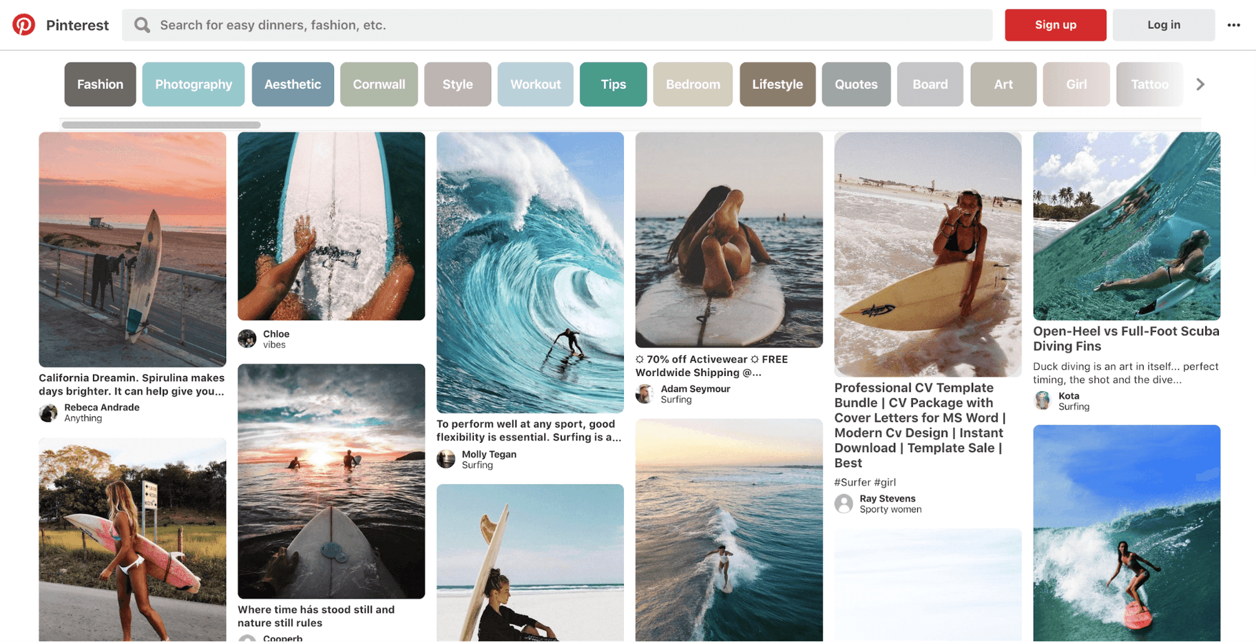 Pinterest Social Media Sites