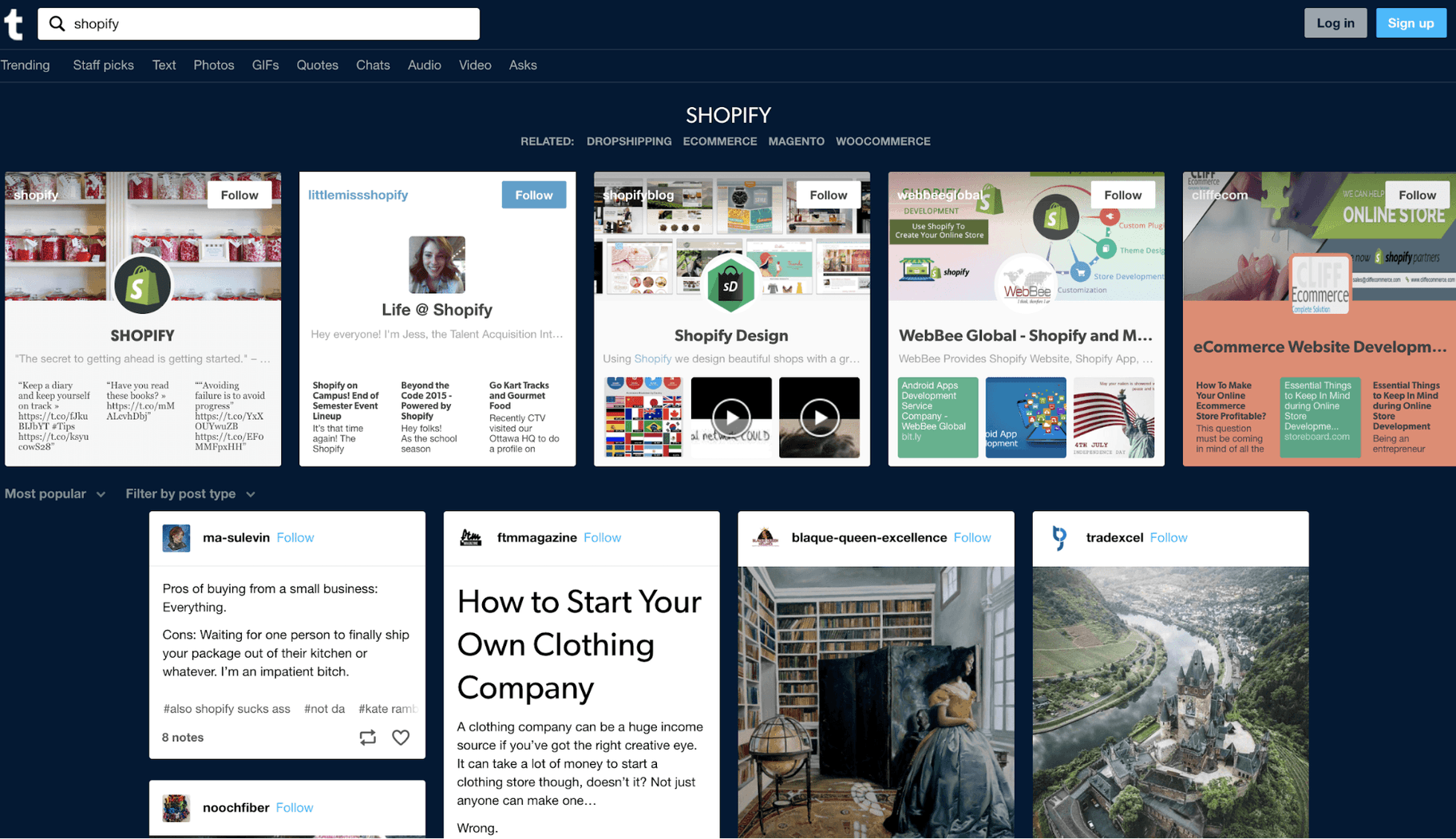 Tumblr Social Media Sites