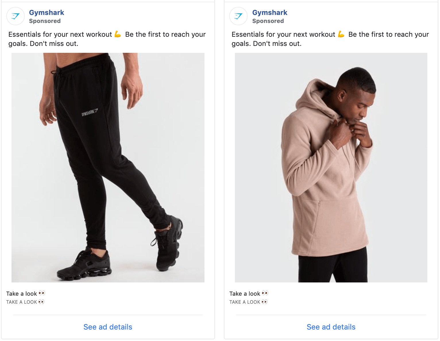 Gymshark Facebook Ads