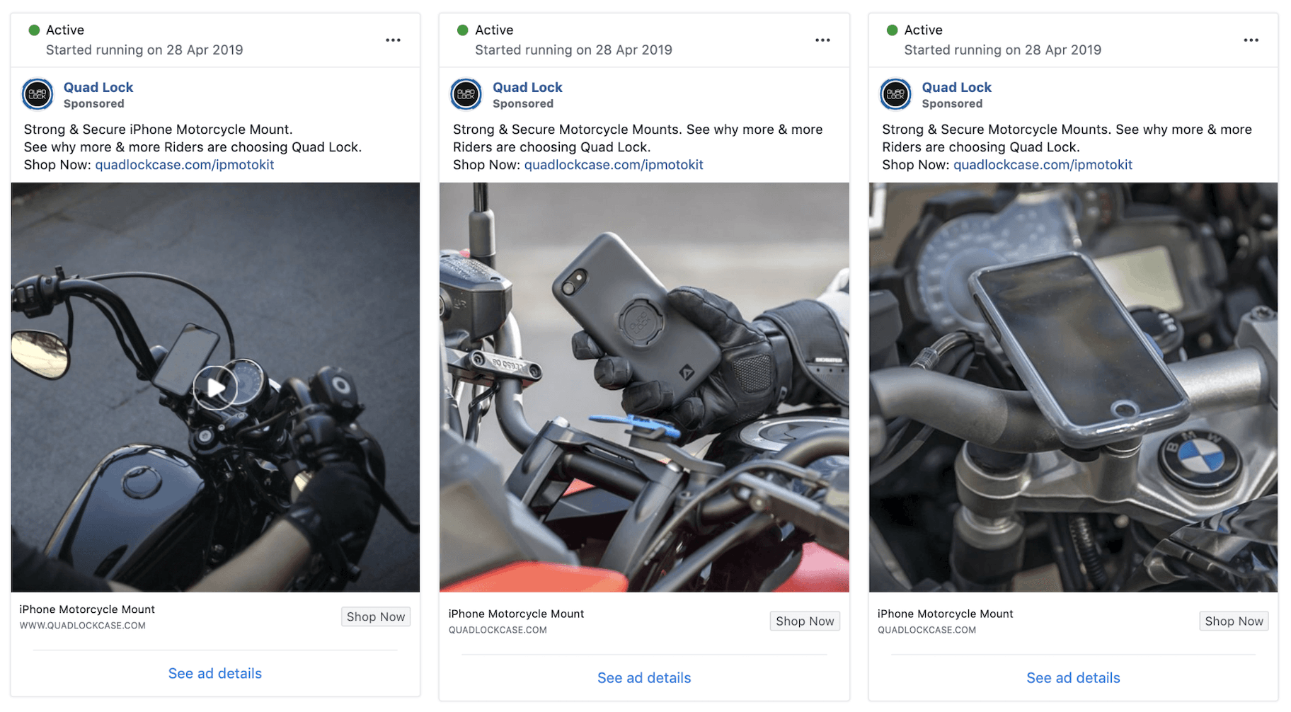 Quad Lock Facebook Ad Split Test