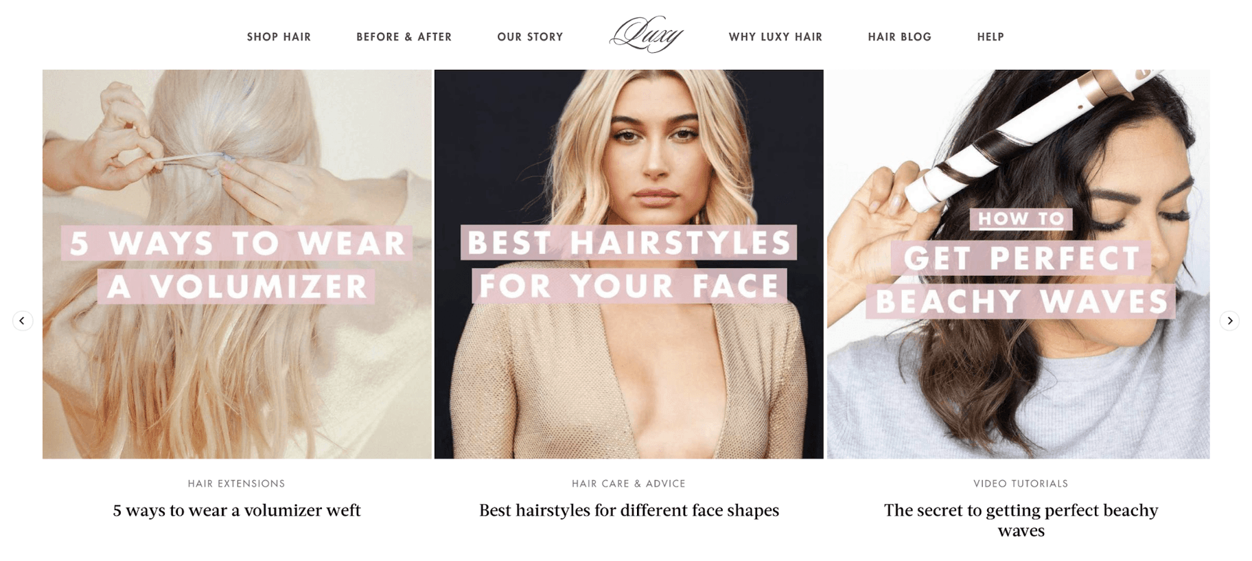 Luxy Hair Content Marketing