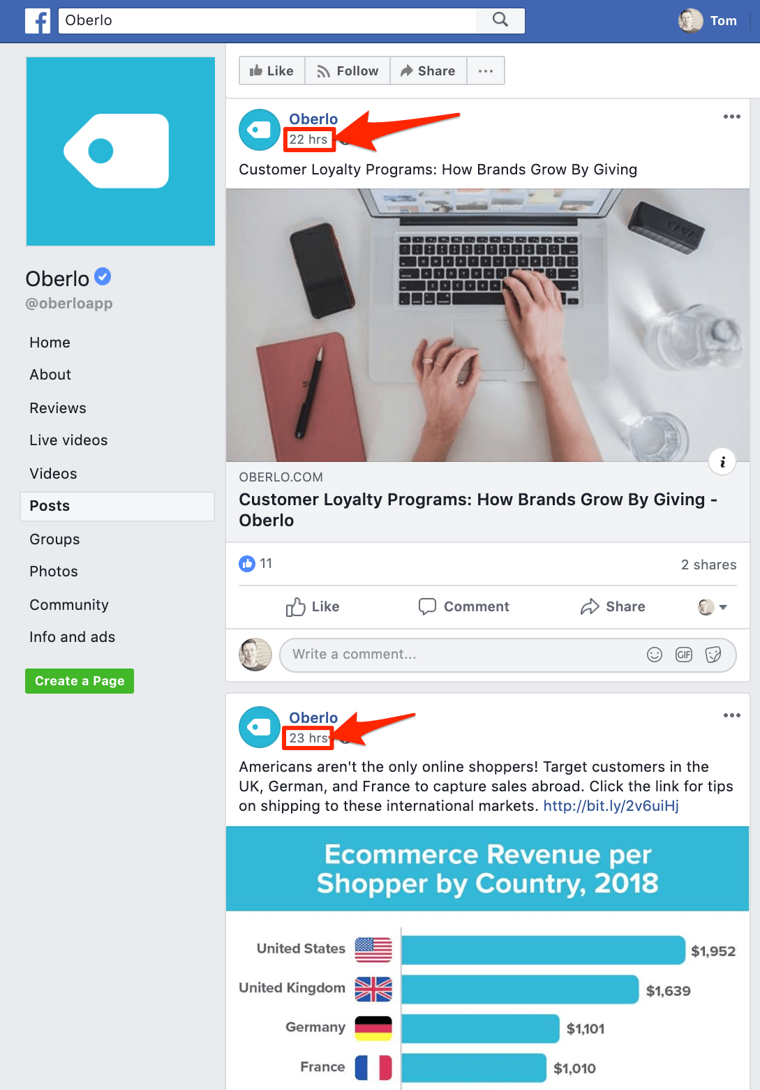 Oberlo Social Media Marketing