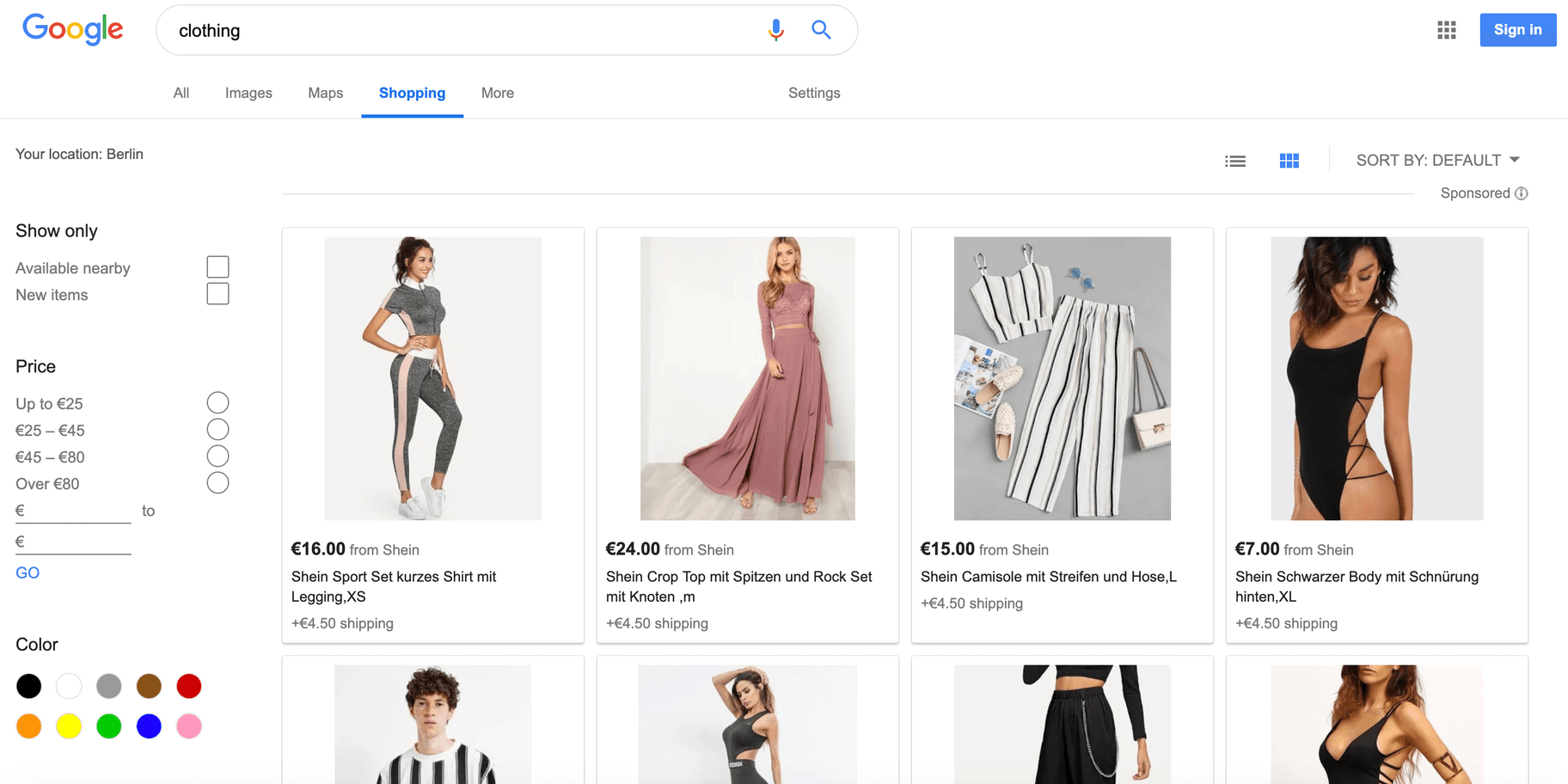 Google Shopping - Price Comparison Website