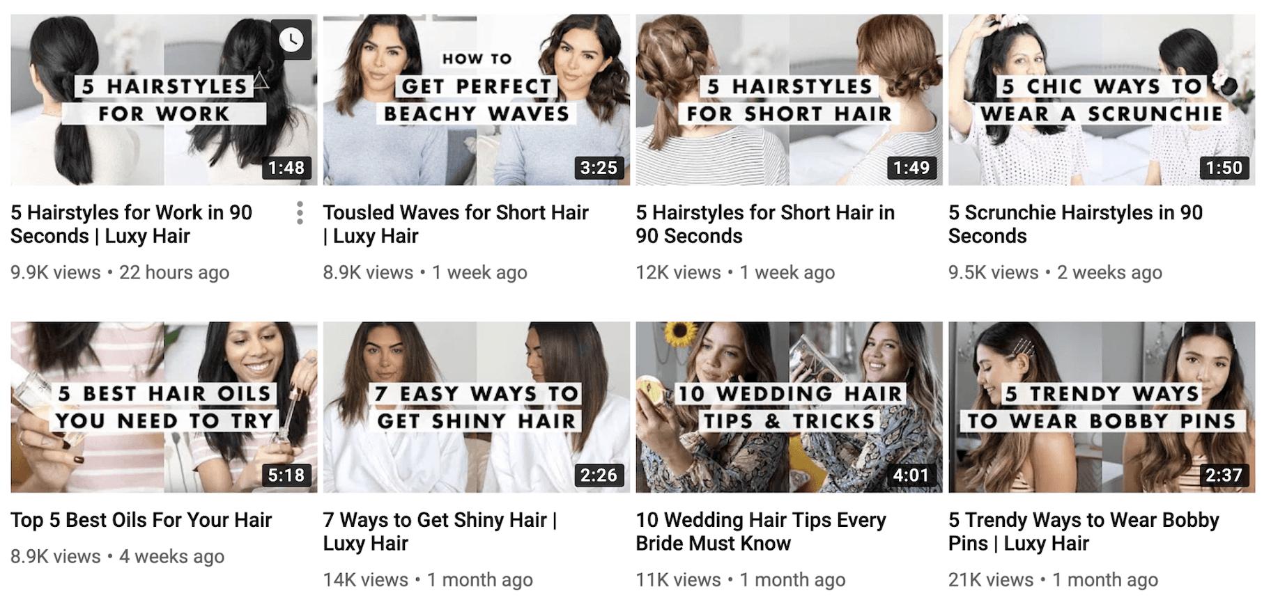 Luxy Hair Video Marketing