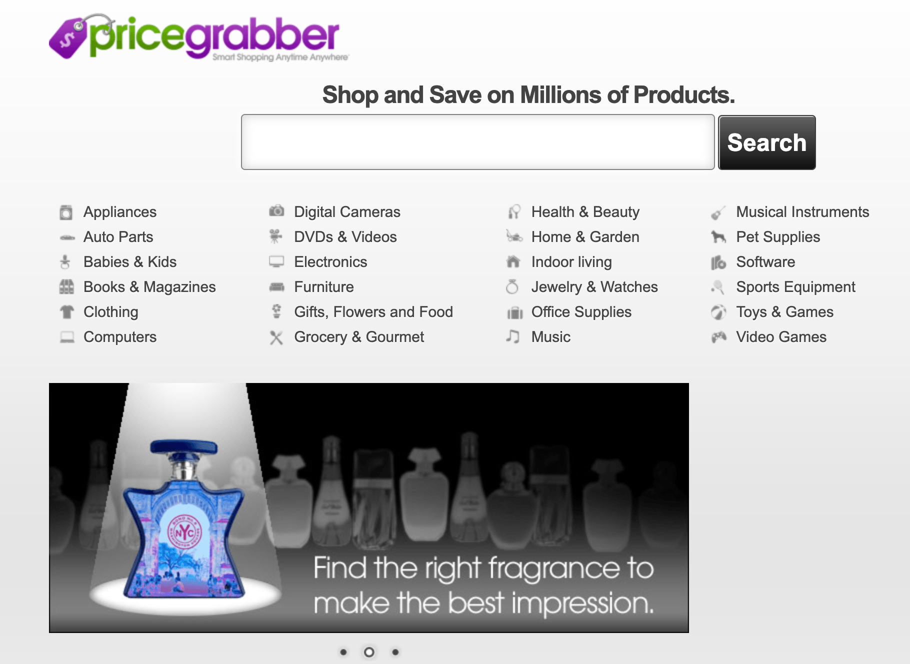 Pricegrabber comparison website
