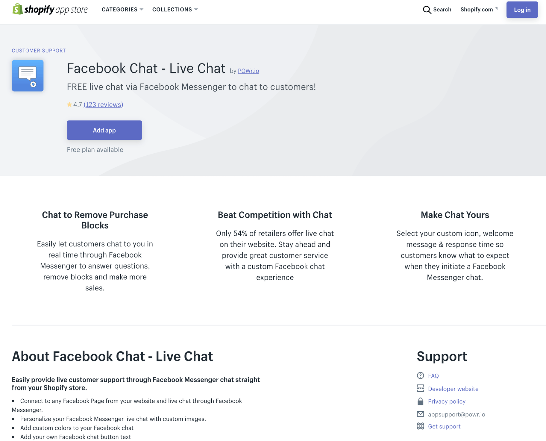 Facebook Chat by POWr.io