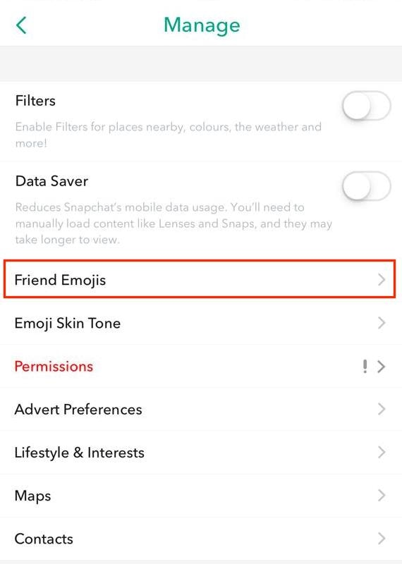 customize snapchat friends emoji