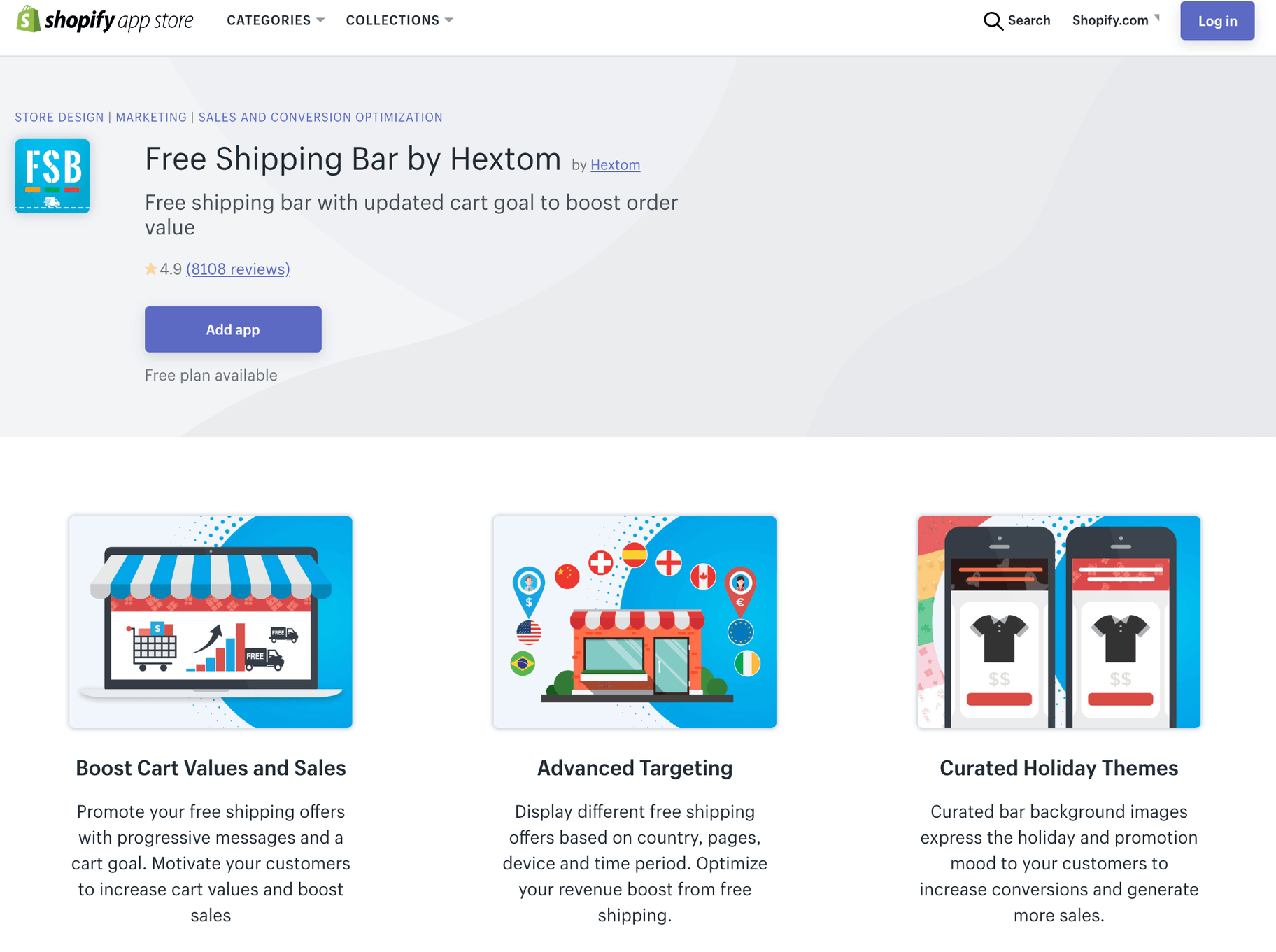Free Shipping Bar by Hextom