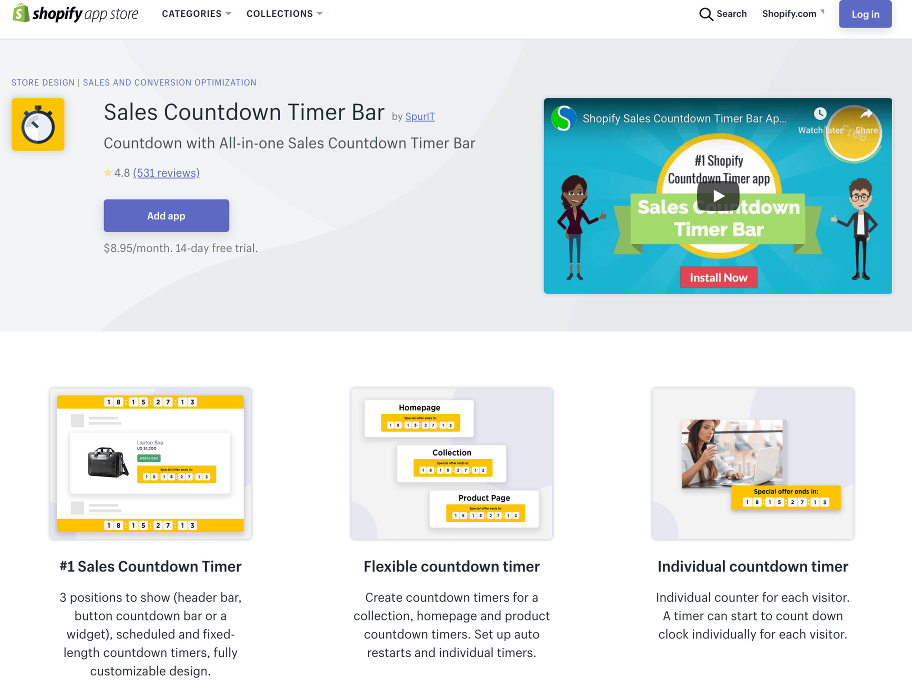 Sales Countdown Time Bar by SpurIT