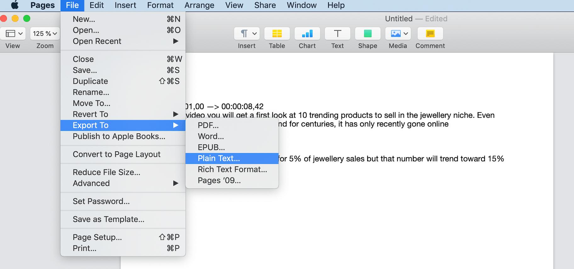 SubRip Subtitle File