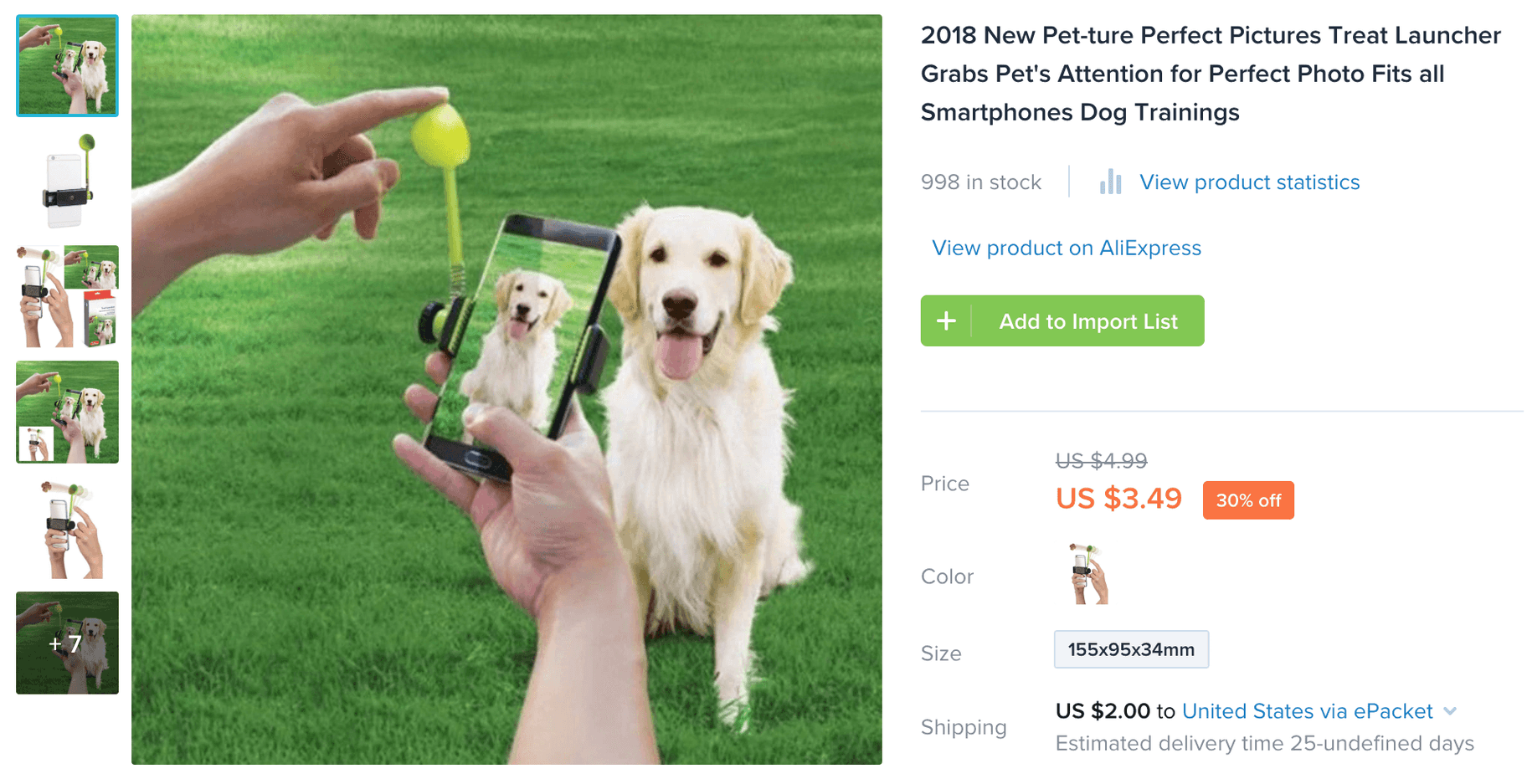 Pet Treat Launcher product