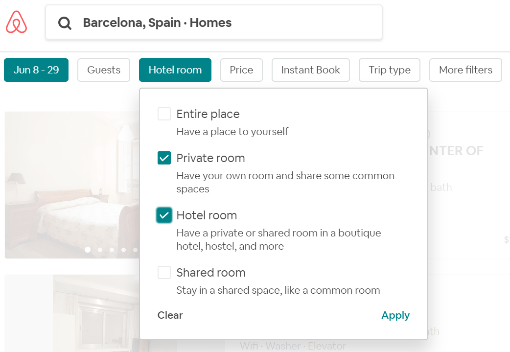 airbnb rentals for nomads