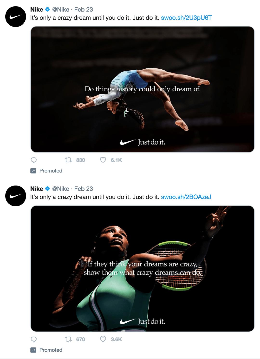 Nike Twitter Ads