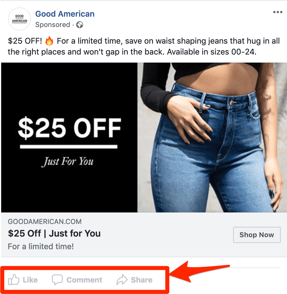 Good American Facebook Info and Ads